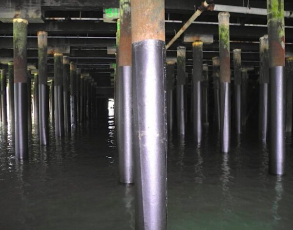 Squamish Terminals Creosote Wrapped Pilings